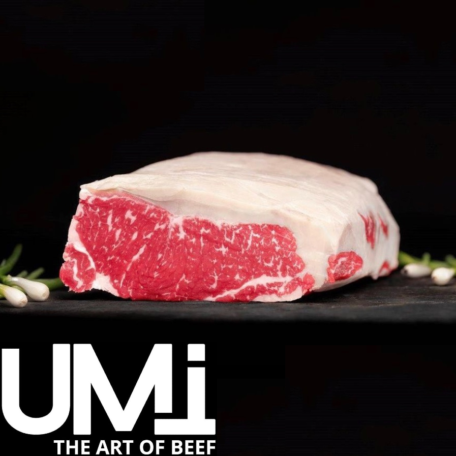 Striploin (Oksefilet), Angus, kornfodret 200+ dage, MBS 5+, UMI THE ART OF BEEF, Uruguay
